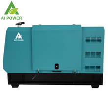 Backup power enclosed silent diesel generator set for outdoor use