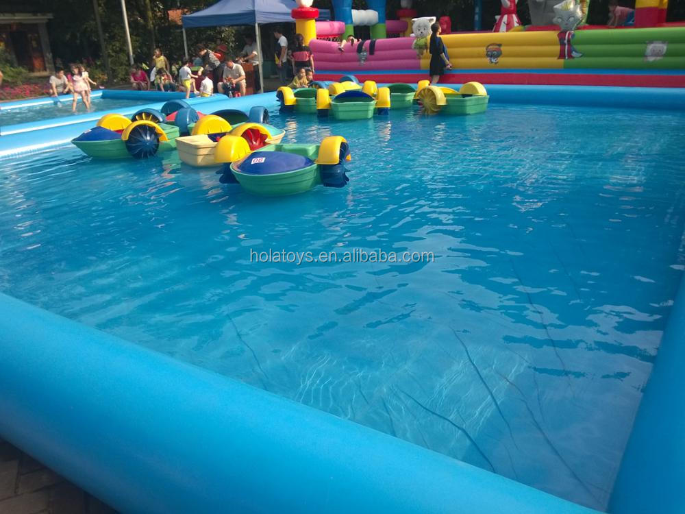 HOLA blue commercial inflatable swimming pool/inflatable pool rental
