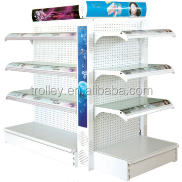 Hypermarket Cosmetics Display Racks/Latest Fashion Cosmetics Store Display Stand with Light Box