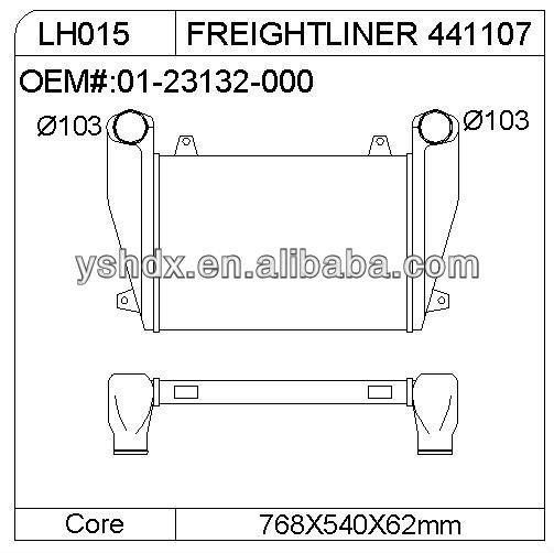 FREIGHTLINER 441107 Intercooler for heavy duty truck spare parts,truck parts intercooler OEM:01-23132-000
