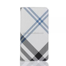 English Wind Wallet Mobilephone Grid pattern Case With Stand Cover For Samsung Galaxy S8 S7 S7 edge S6 edge