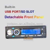 1 Din Car DVD Player,Detachable Front Panel Car DVD/VCD/MP3/CD/FM/AM Tuner/USB/SD