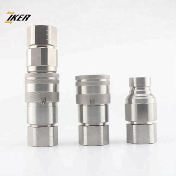 ZJ-FF steel flat face hydraulic quick coupler fittings