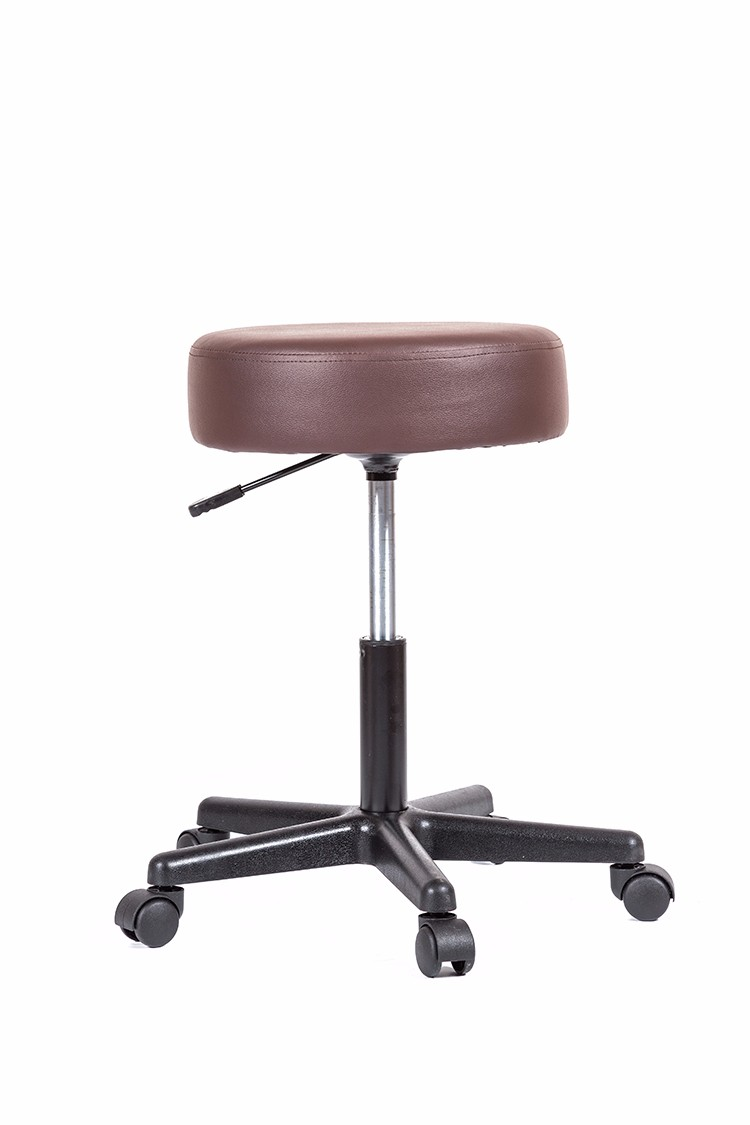 GB-602 Adjustable Salon Stool Hydraulic Saddle Rolling Chair Tattoo Facial Massage Spa