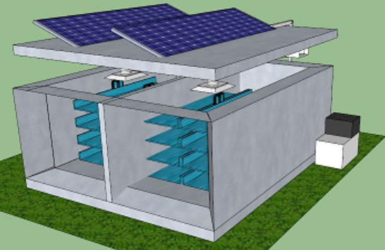 4HP solar powered cold storage room for fish frozen