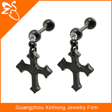 stainless steel earring single stone earring designs