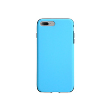 Blue PU Leather PC back cover case for iPhone 7 plus