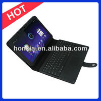 Wireless Bluetooth Keyboard with Leather Case for Motorola Xoom