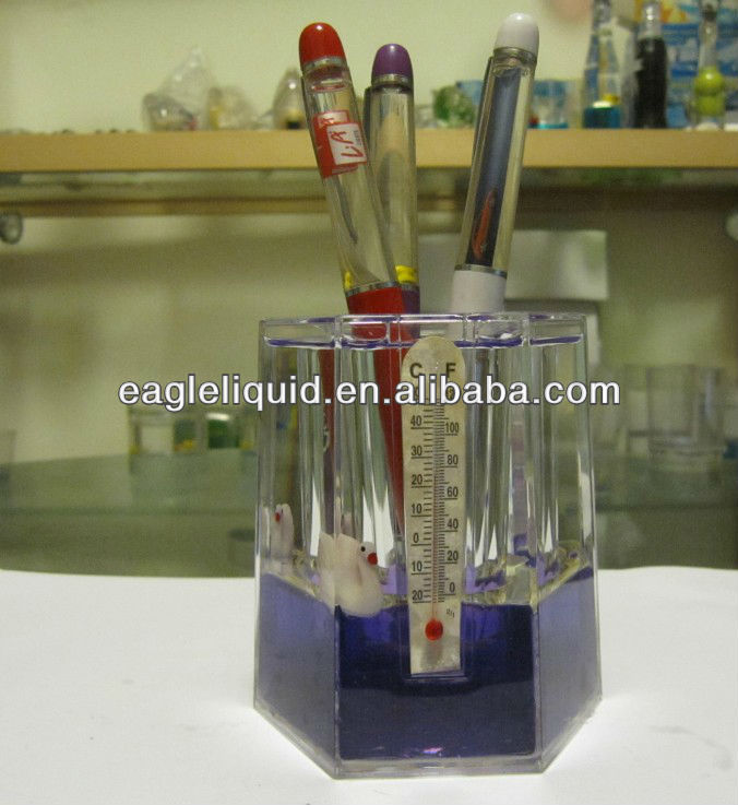 purple color water custom floater inside liquid decorative pen holder