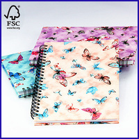 A5 Fabric Covered Spiral Notebooks