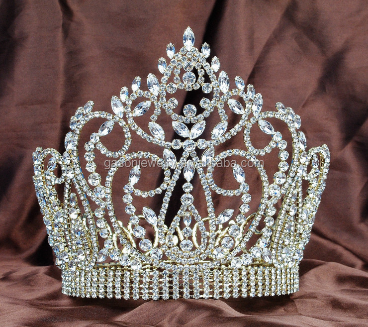 Beauty Red stone Diamond Queen PAGEANT tiara crown