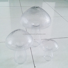 Custom wholesale fancy clear mushroom shaped art glass jar