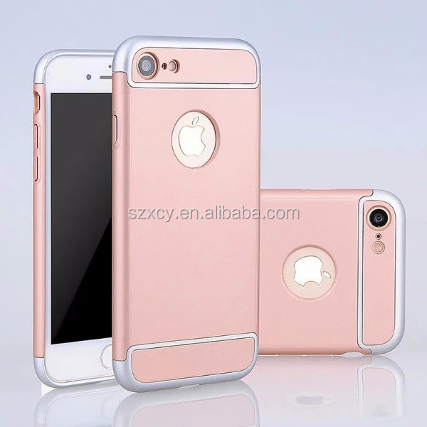 3in1 detachable 360 full wrap protective cell pone back cover case for Apple iPhone 7