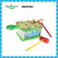 Tortoise design hammer game wood toy