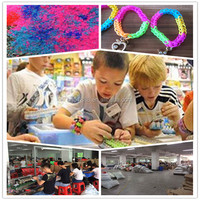 2014 Kids Good Educational Gift Crazy Cheap Rainbow Colorful DIY Silicone Rubber Loom Bands Original Wholesale China Low Price