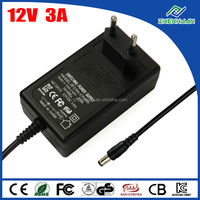 EU AC/DC Adapters 12V 3A LED Light Power Supply With High Efficiency