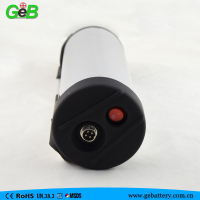 36v 10ah bottle type lithium battery for electric bike