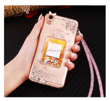 TPU Glitter Bling Bling Liquid Phone Case Cover For Samsung Note3/4/5