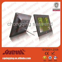 square digital photo frame support photo/music/video, CE&ROHS approved vga input to digital photo frame