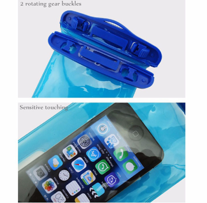 Free sample new hot product waterproof cell phone pouch PVC with strip underwater
