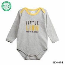 2016 High quality bamboo baby onesie Plain gray baby bodysuit