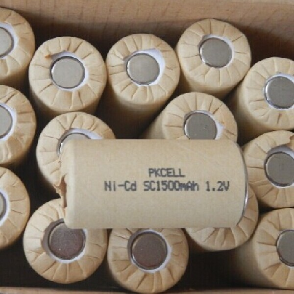 Ni-Cd Sc 1500Mah/ 1200Mah Nickel Cadmium Rechargeable Battery 1.2V Nicd Sub-C Electric Power Tools Battery