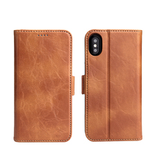 The Factory Price High Quality Mobile Phone Wallet Leather Case For Iphone X Case