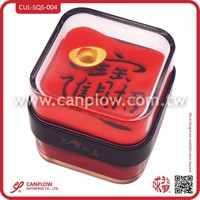 Acrylic square shape sand paperweight chinese New Year office promotion gift items