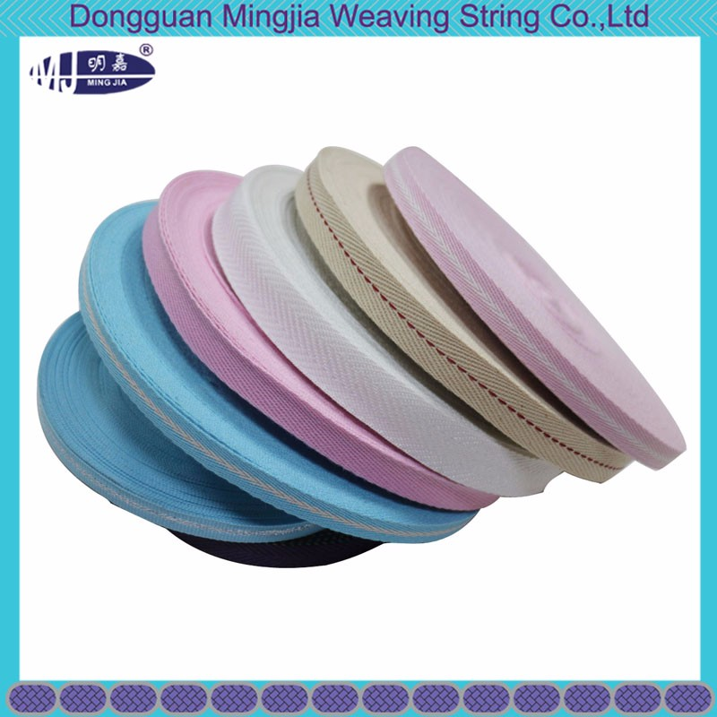 wholesale soft herringbone cotton webbing for garment