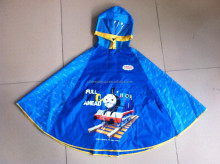 changzhou new product polyester cartoon kids poncho, children rain cape, raincoat