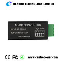 Best selling ac dc converter 24VAC to 12VDC 2A step down Power converter transformers with CE RoHS approved