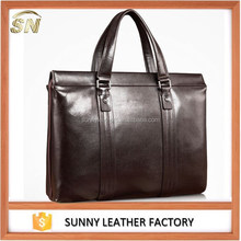 fashion top cowhide men leather handbag for business