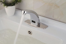 CE ROHS certificate approved brass non touch washbasin automatic sensor faucet mixer tap