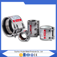 MF-L SUZHOU industral gas pipe fitting tools/pvc conduit underground pipe flexible joint clamp,with EPDM NBR rubber circle liner