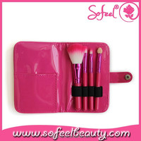 Cute portable travel make up brushes set