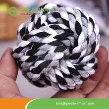 Cotton rope ball <strong>pet</strong> toys for dog biting and <strong>training</strong>