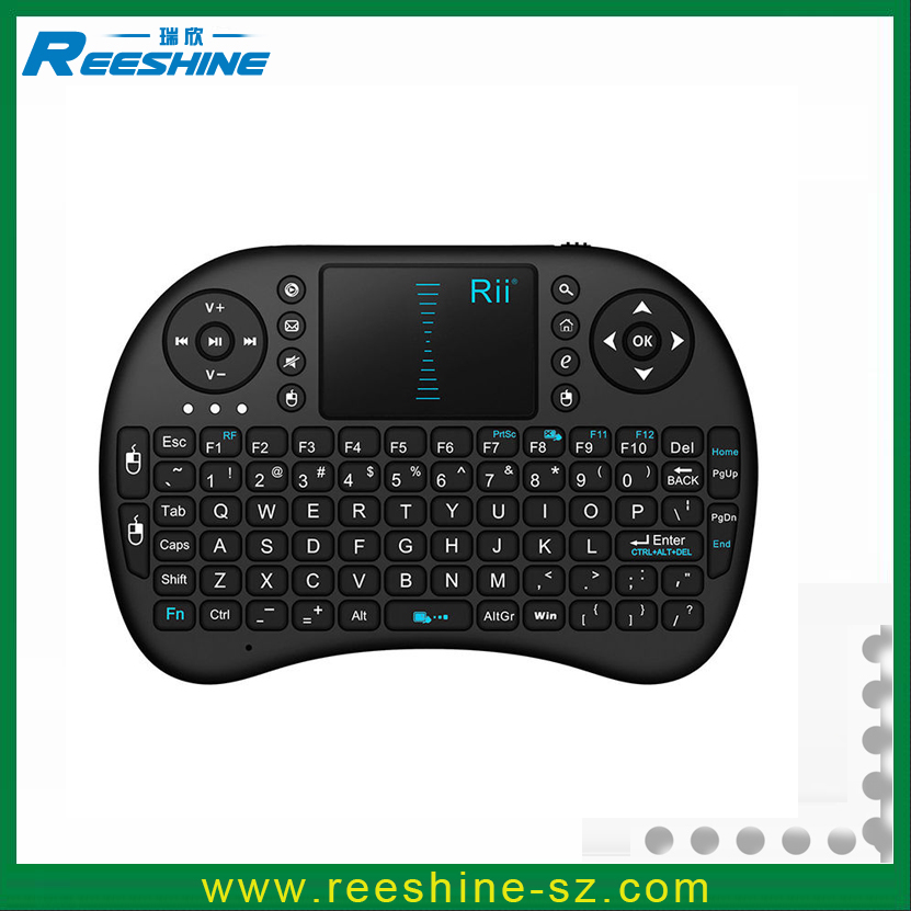 original rii 2.4G i8 smart tv remote keyboard rechargeable