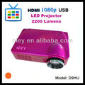 cheap led projector lcd 2200 lumens built in tv tuner, HDMI, USB, VGA, S-Video, YPbPr