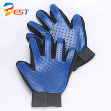 hot sale on amazon pet grooming gloves brush pet hair remove gloves tool
