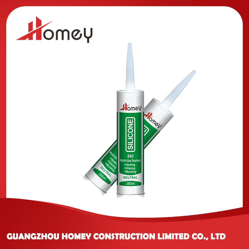 Homey 860 silicone gap filler multi purpose neutral silicone sealant