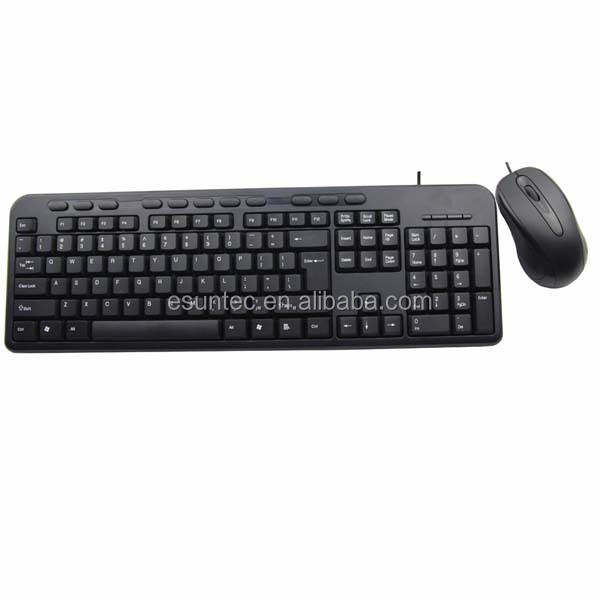 High Quality USB multimedia wired keyboard and mouse combo KMC-002U