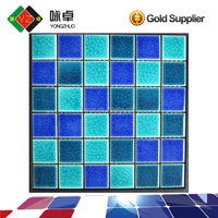 48*48mm Blue Glazed Ceramic Swimming Pool Mosaic Tile
