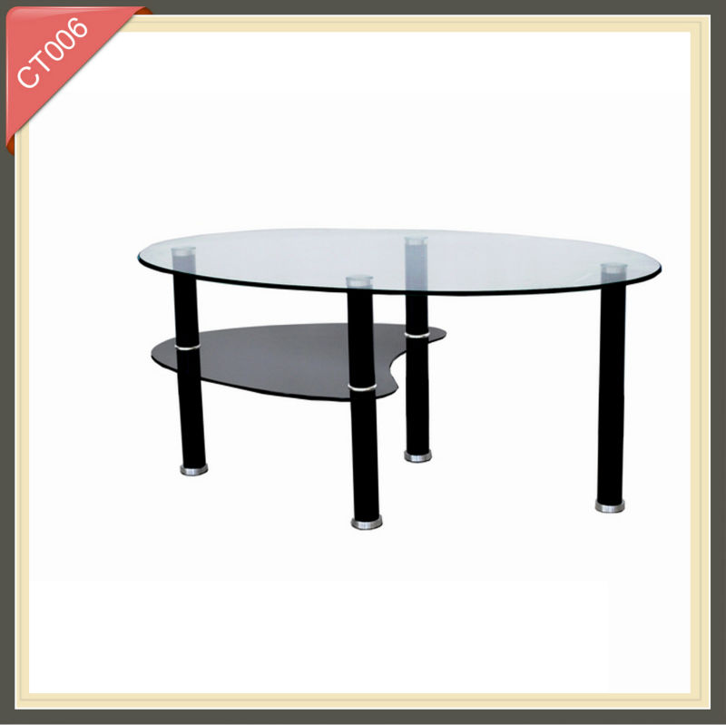 alibaba express alloy wheel from maiker glass coffee table CT006