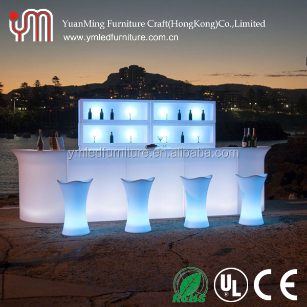 Illuminated Corner and Sectional Counter Led Bar Counter