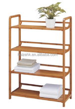 4 towel bamboo cloth rack/storage shelf