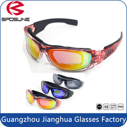 New stylish cool spy glasses wholesale uv protective glasses black frame grey lens army safety goggles motorcycle cycling racing