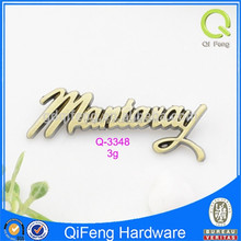 qifeng decoration metal logo q-2862 custom hardware logo with galvanized engraving