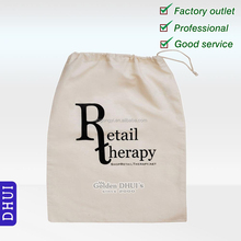 Factory Wholesale Cotton Fabric Drawstring Bag,Printed Logo Shoes Bag,Advertisement Dust Pack Bag
