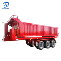 2017 hot sales 3 axles semi trailer low bed with container heavy duty dump trailer