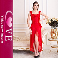 Latest Sexy Gown Designs For Women Hot Red Night Sleeping Dress